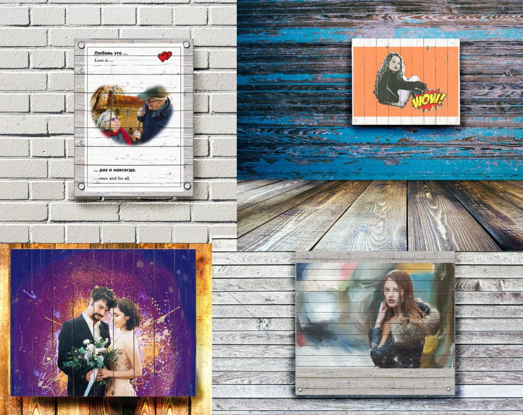 Портреты на досках по фотографии на заказ по фотографии