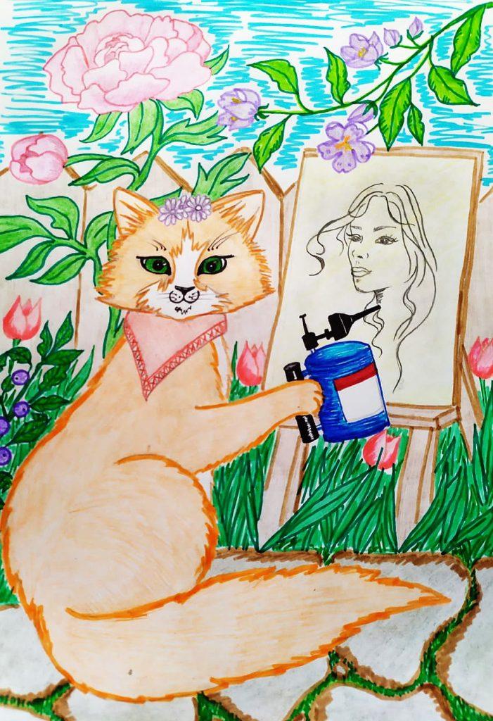Логотоп кот лето