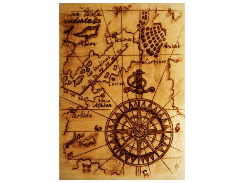 "Пирокартина ""Карта Сокровищ"""