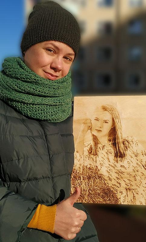 Выжженный портрет по фото